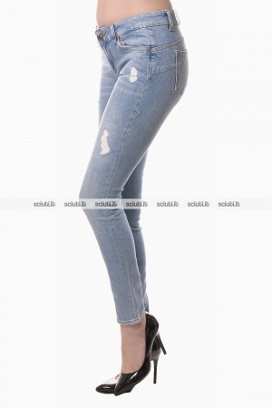 Jeans Liu Jo donna bottom up Fabulous bon bon effetto destroyed