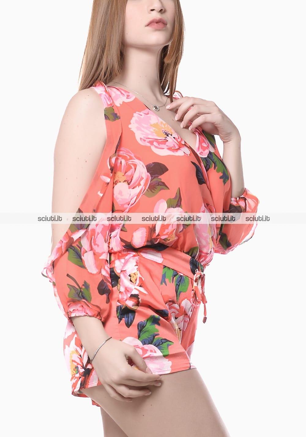 34d1c4c21d Abito tuta Guess Marciano donna fantasia floreale arancione