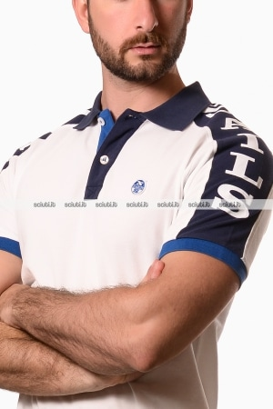 Polo North Sails uomo graphic bianco