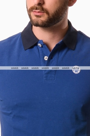 Polo North Sails uomo bordi in contrasto blu
