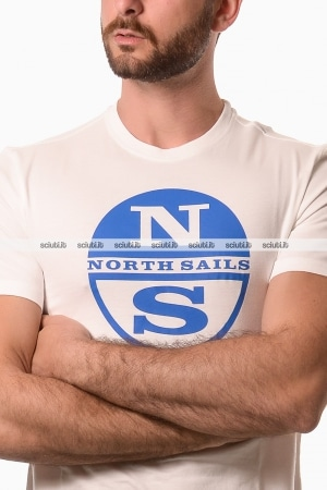 Tshirt North Sails uomo graphic logo bianco