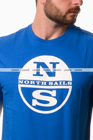 Tshirt North Sails uomo graphic logo royal