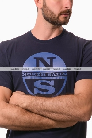 Tshirt North Sails uomo graphic logo blu scuro