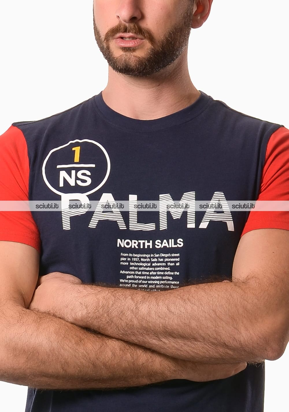 Tshirt North Sails uomo stampa fronte retro blu scuro