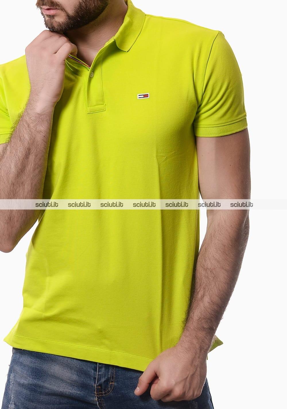 Polo Tommy Hilfiger uomo classic verde lime | Sciuti.it