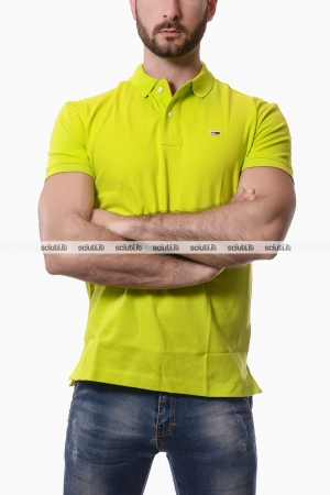 Polo Tommy Hilfiger uomo classic verde lime