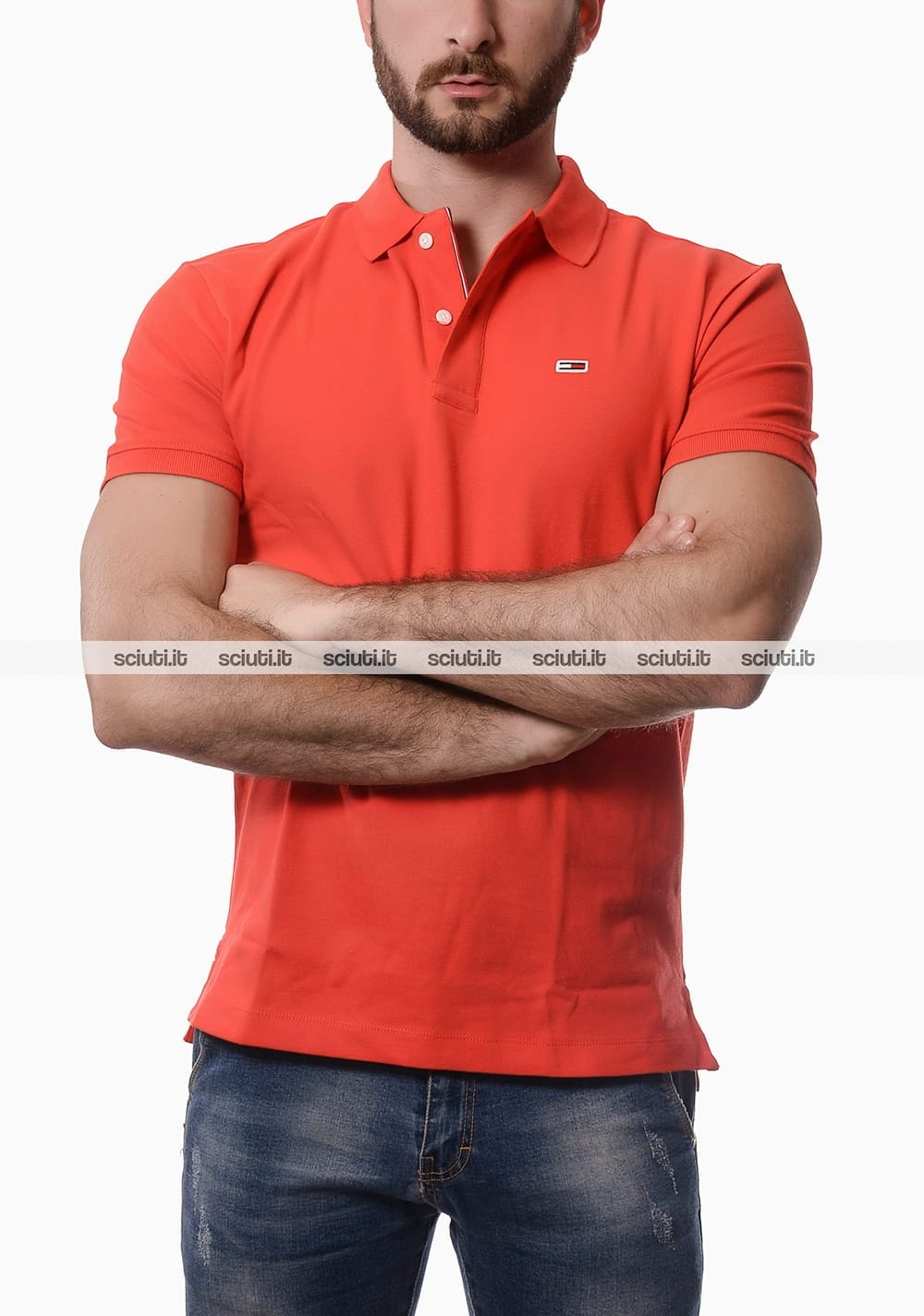 Polo Tommy Hilfiger uomo classic rosso