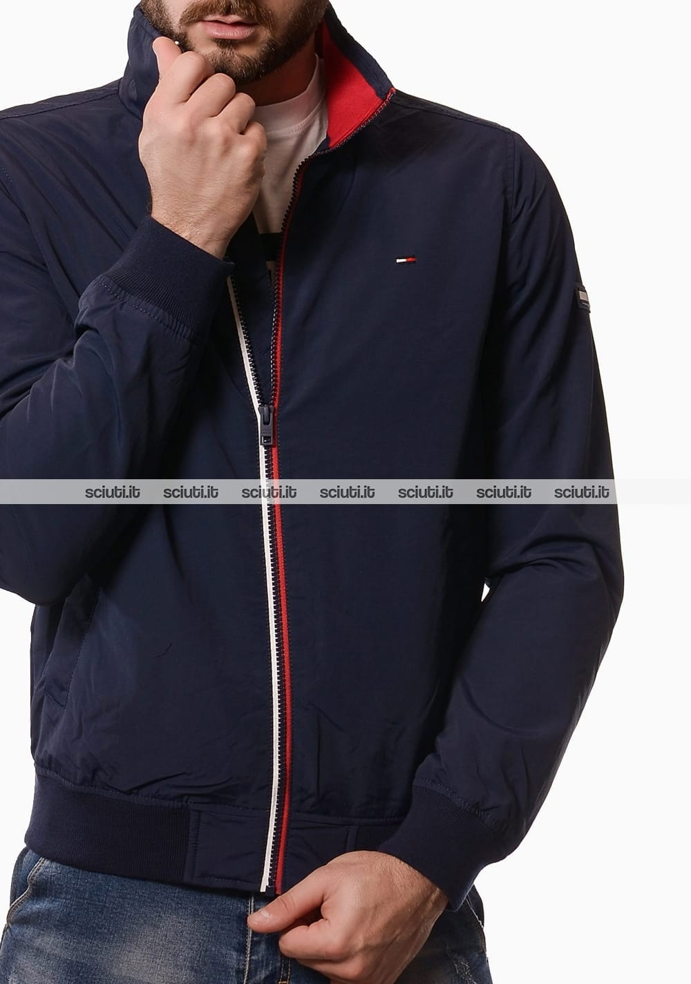 Giubbotto Tommy Hilfiger uomo bomber blu scuro | Sciuti.it