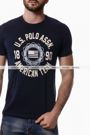Tshirt US Polo Assn uomo American team blu scuro