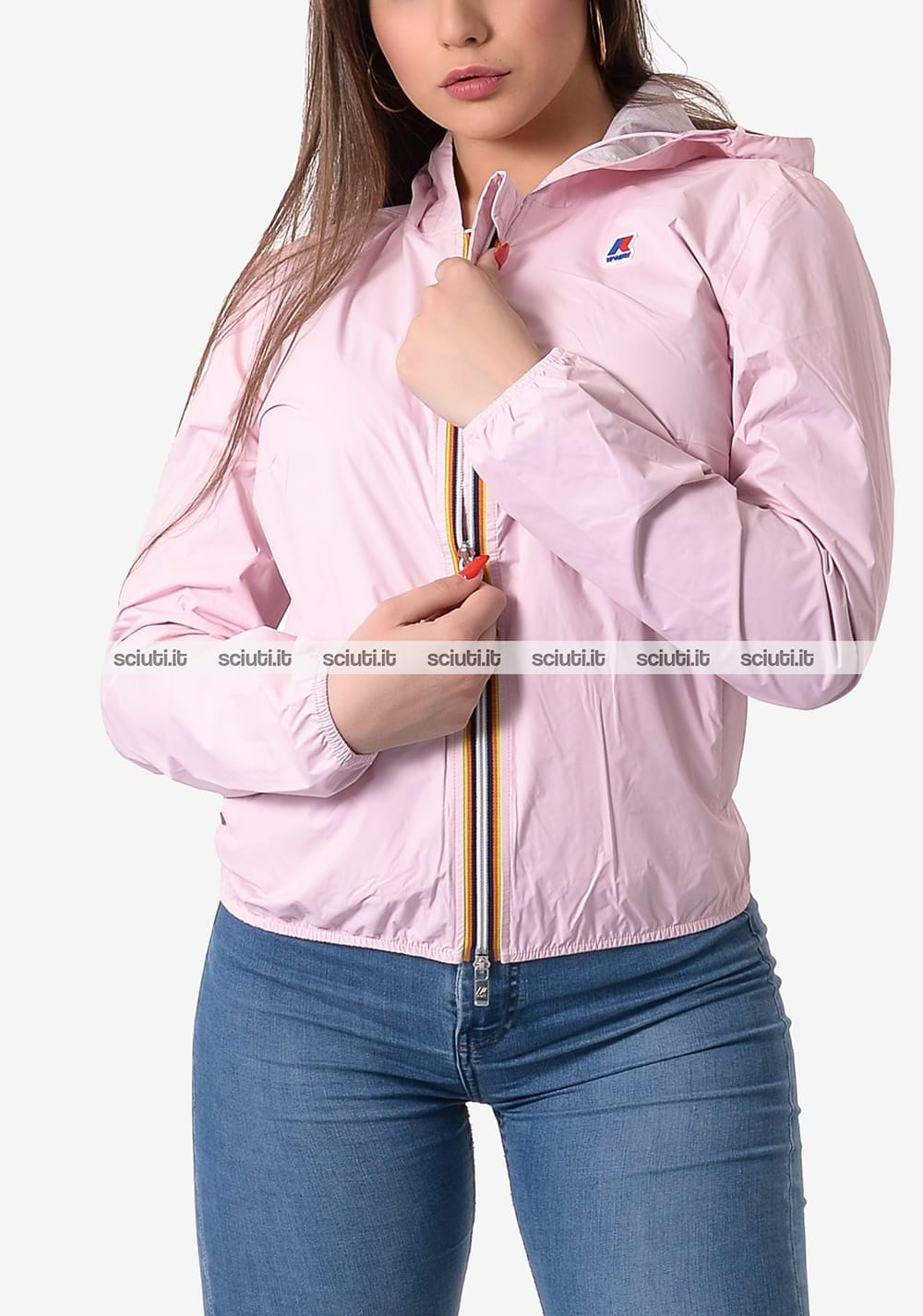 Giubbotto Kway donna Lil plus dot rosa