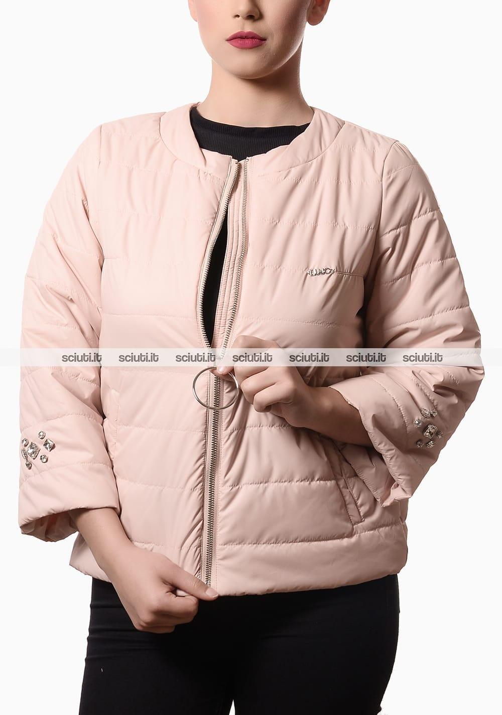 size 40 ad922 bb842 Piumino Liu Jo donna inserti gioiello rosa | Sciuti.it