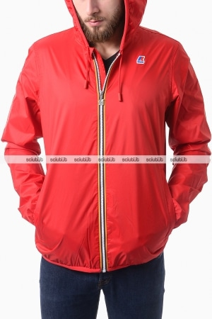 Giubbotto Kway uomo Jacques jersey rosso