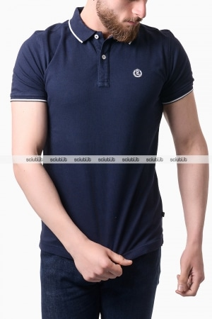 Polo Henri Lloyd uomo bordi in contrasto blu navy