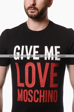 Tshirt Love Moschino uomo Give me Love nero