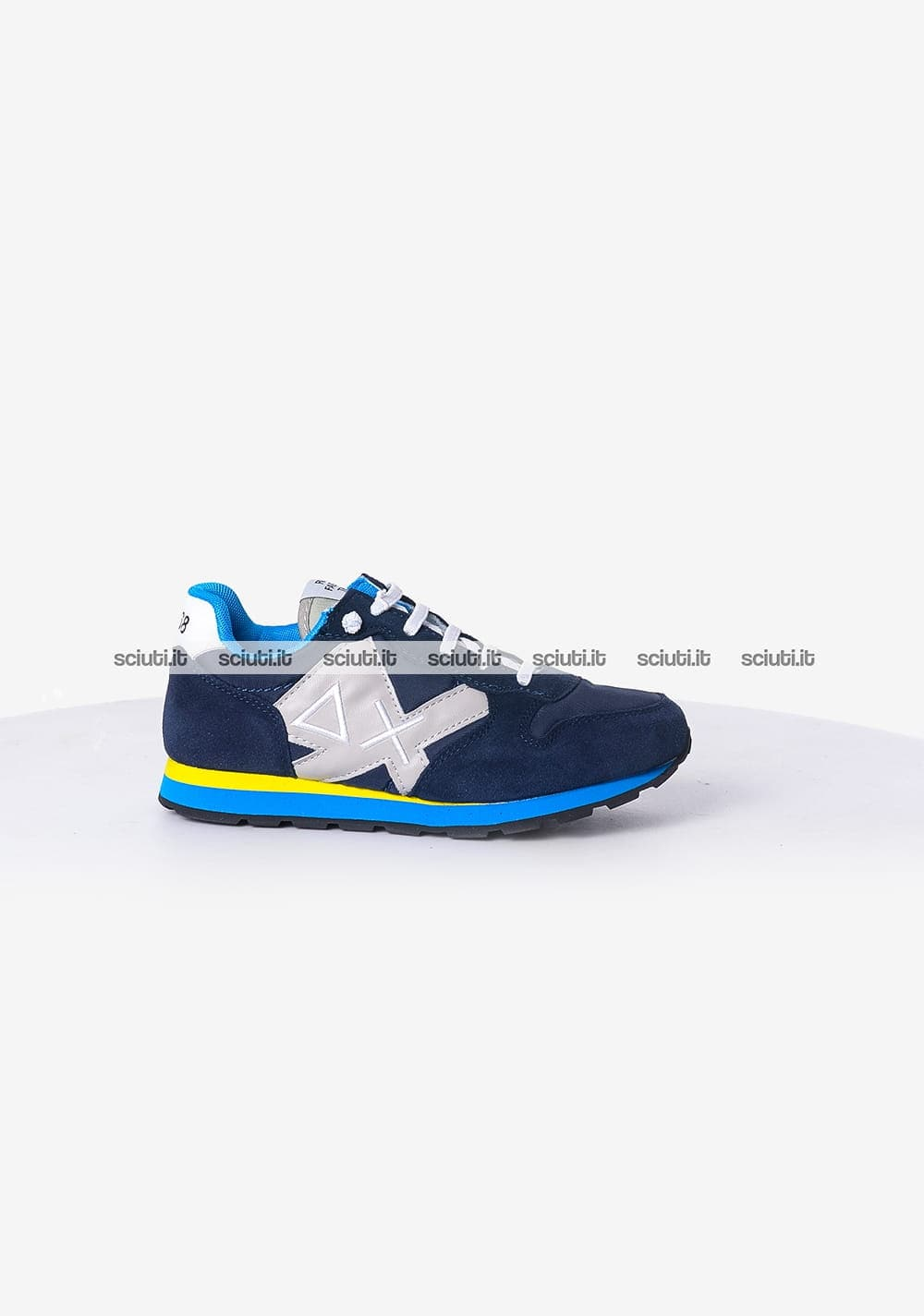 official photos da318 bb510 Scarpe Sun68 bambino Tom multicolor nylon blu turchese