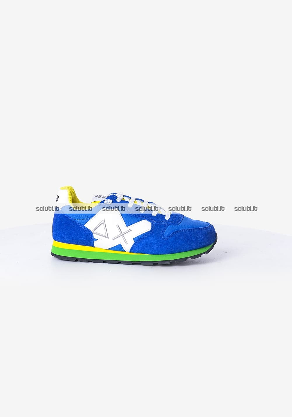 best sneakers 06961 c6b8c Scarpe Sun68 bambino Tom multicolor nylon blu royal verde