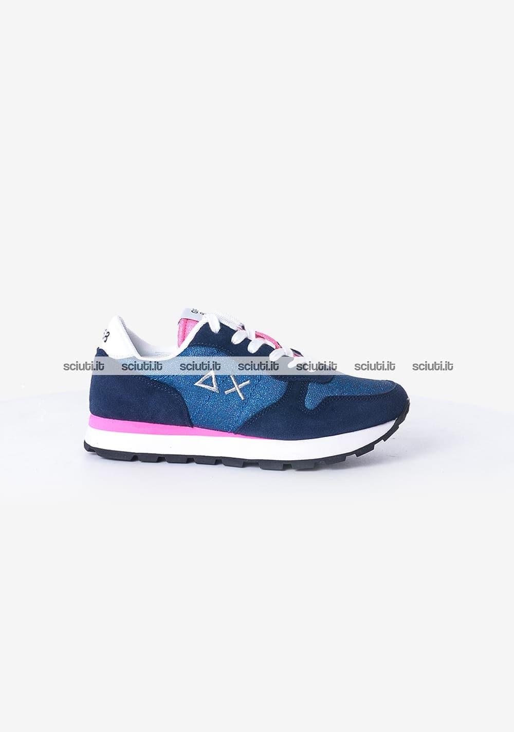 online store 052d4 74f49 Scarpe Sun68 donna Ally glitter mesh blu | Sciuti.it