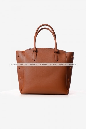 Borsa shopping Trussardi donna Melissa bottoni marrone