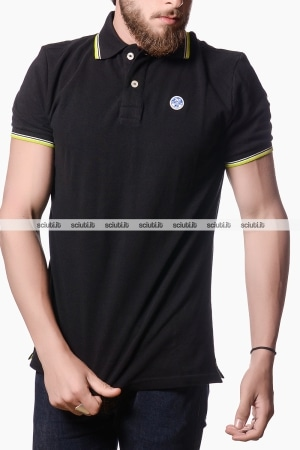 Polo North Sails uomo heritage nero