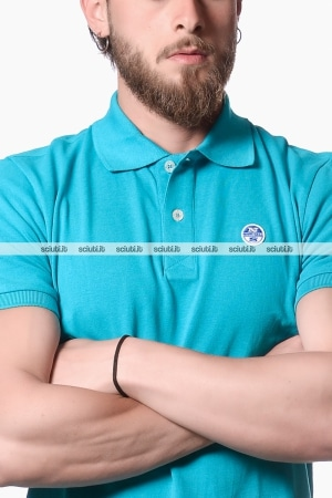 Polo North Sails uomo logo turchese