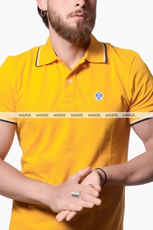 Polo North Sails uomo heritage giallo