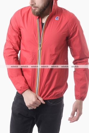 Giacca Kway uomo Jack plus dot rosso