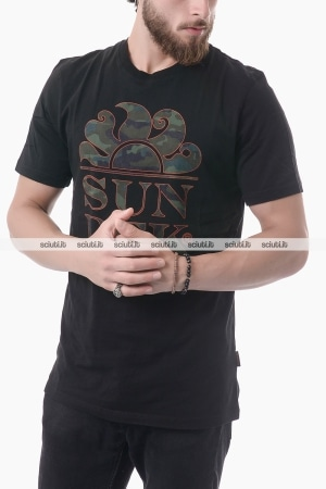Tshirt Sundek uomo logo Follow the sun nero