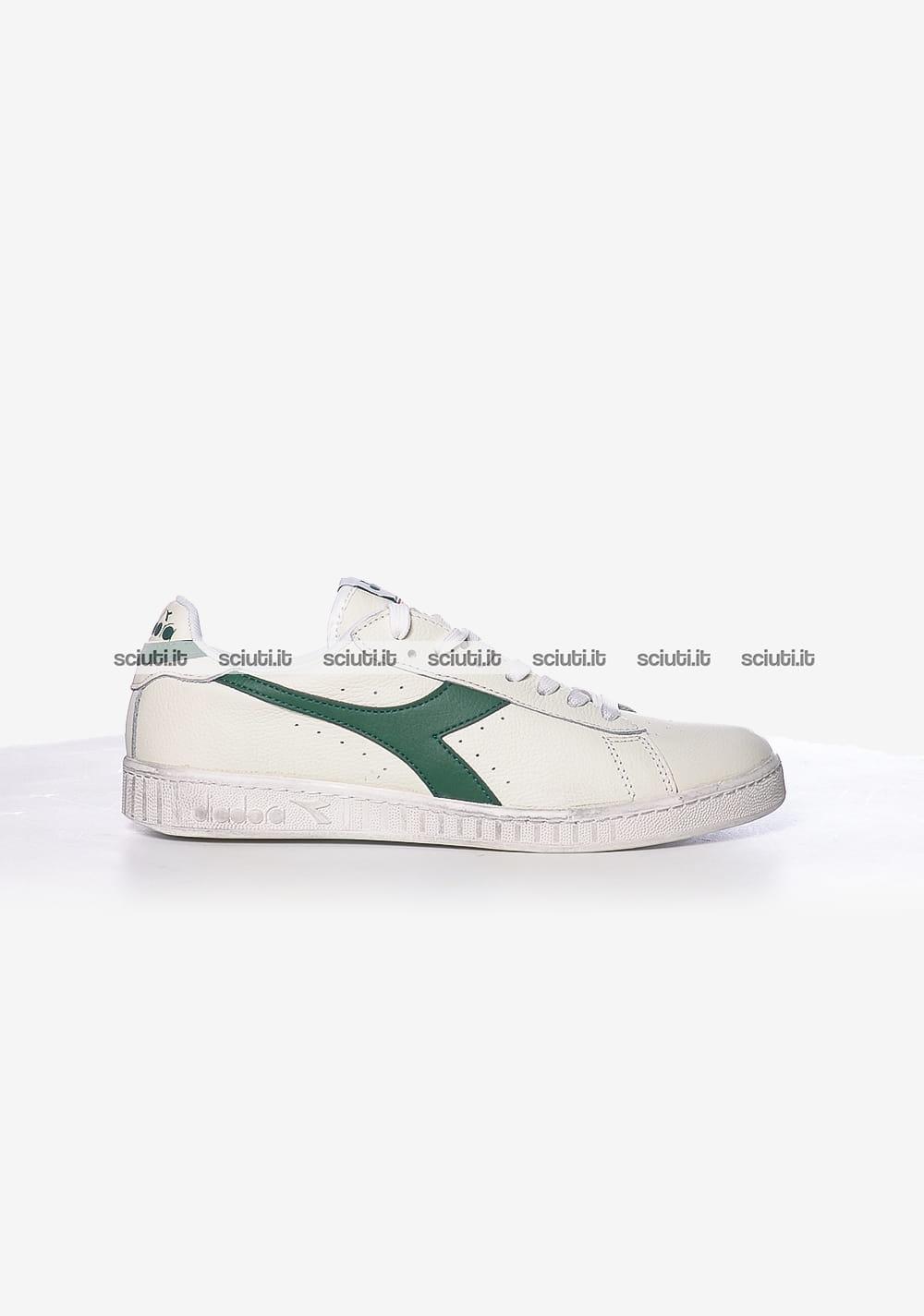 Scarpe Diadora uomo Game L Low waxed bianco verde
