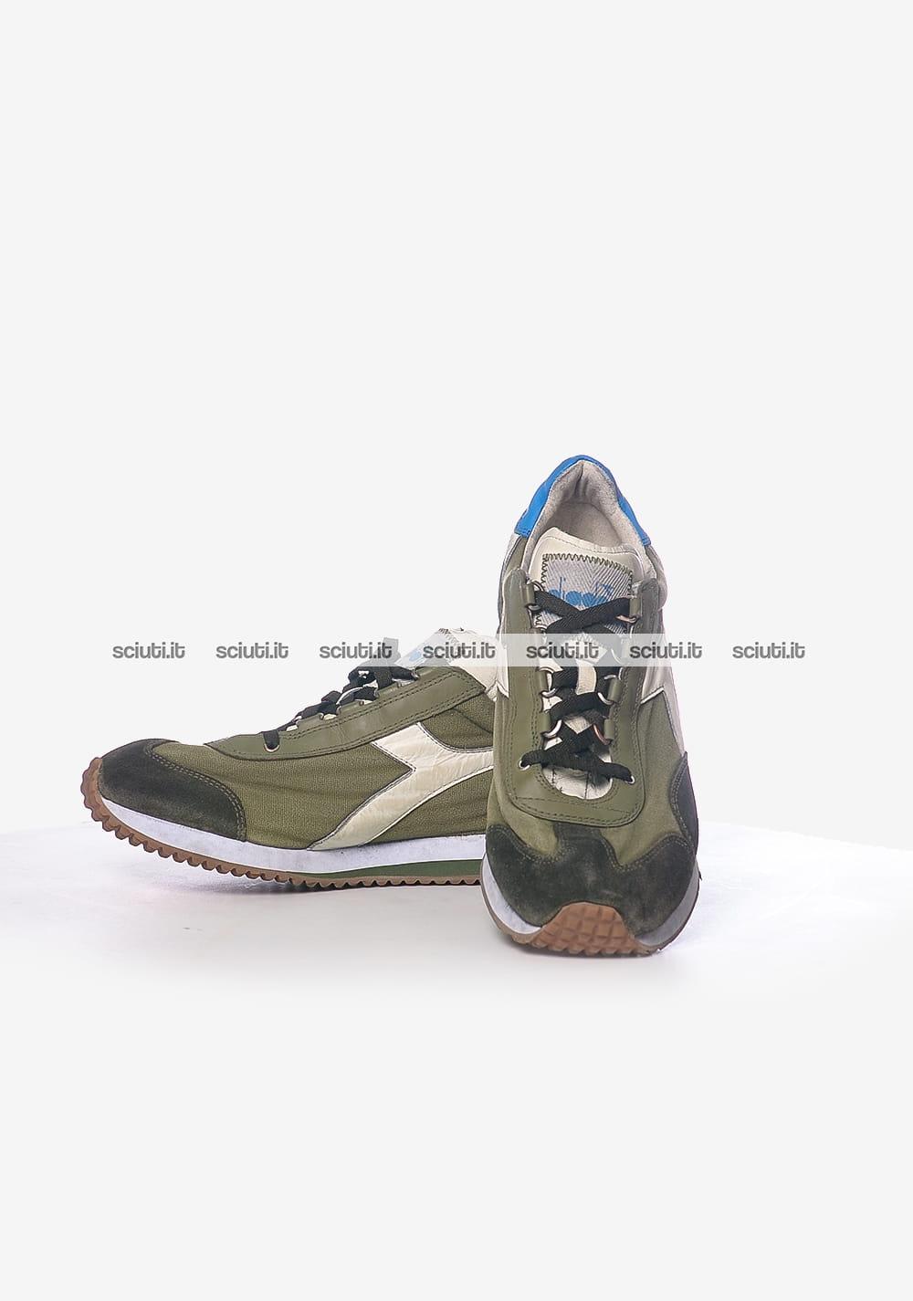 Sneakers Diadora Heritage Equipe Stone Wash Dirty Camoscio E