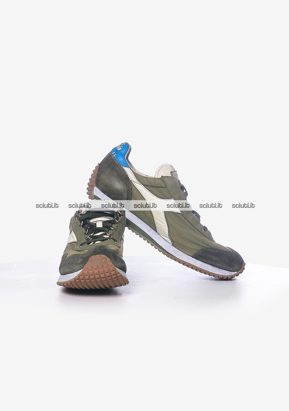newest collection 1d604 06123 Scarpe Diadora Heritage uomo Equipe H dirty stone wash evo verde militare