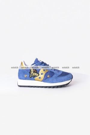 Scarpe Saucony donna Jazz Vintage limited edition blu navy gold
