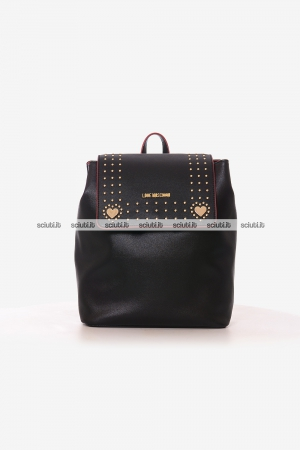 Zaino Love Moschino donna nero con borchiette