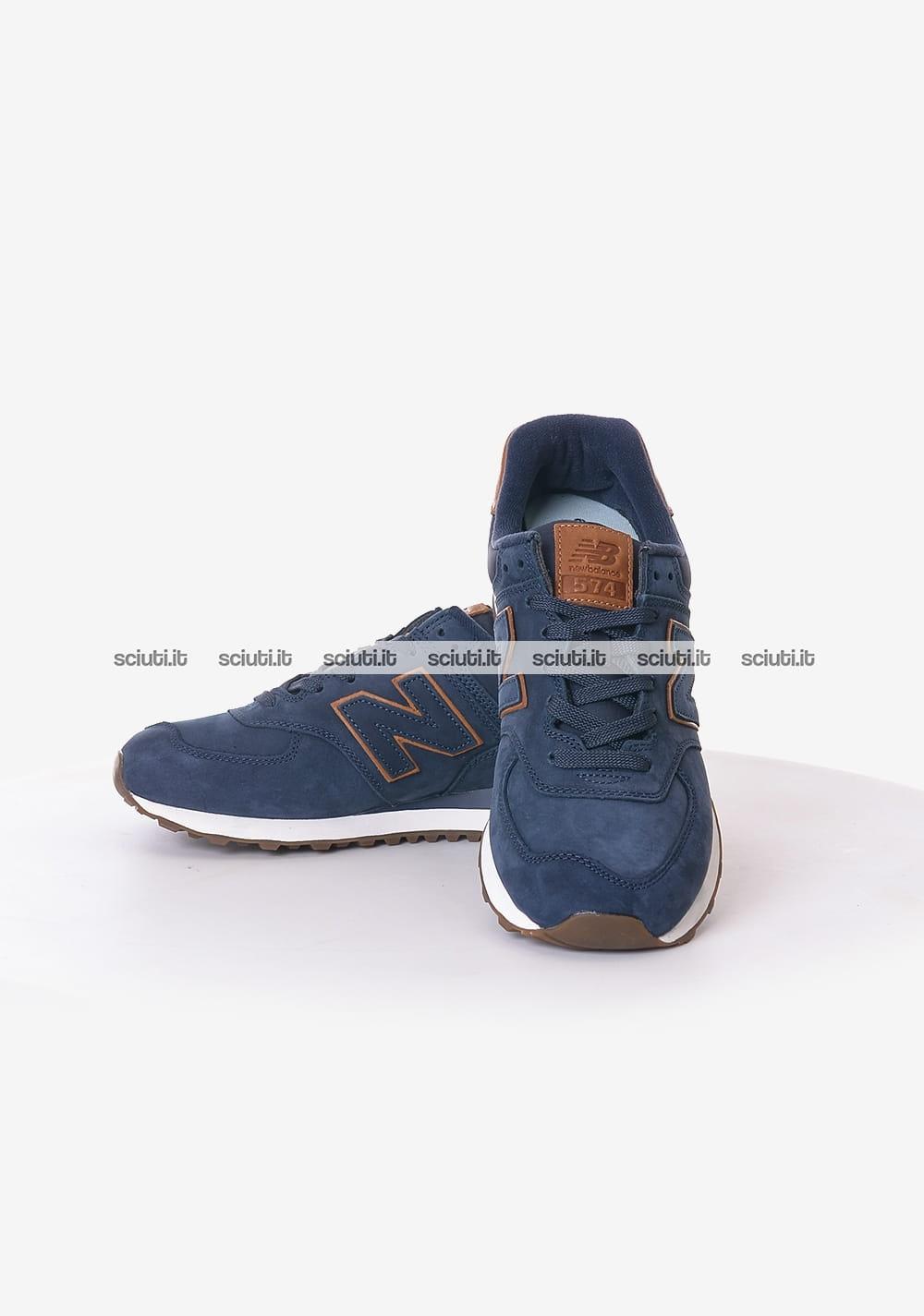 new balance 574 uomo blu scuro