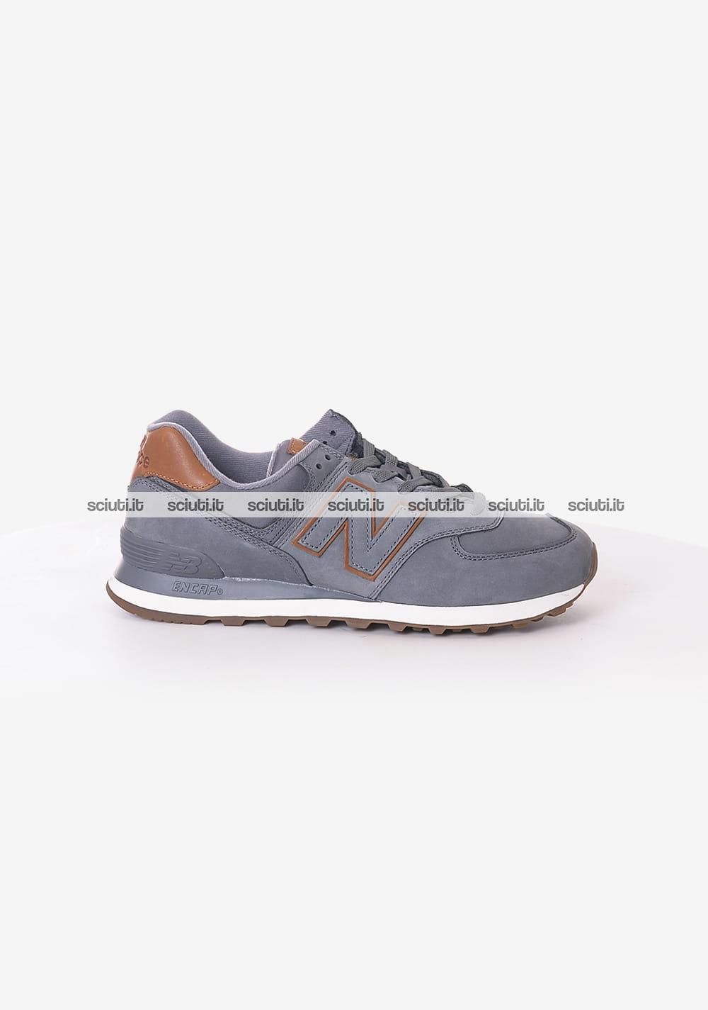 Scarpe New Balance uomo 574 grigio marrone | Sciuti.it