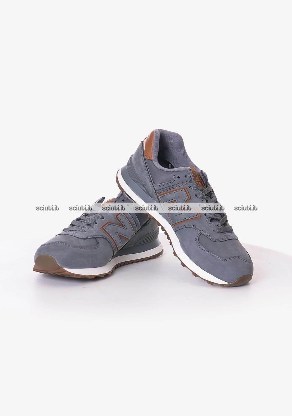 Scarpe New Balance uomo 574 grigio marrone   Sciuti.it