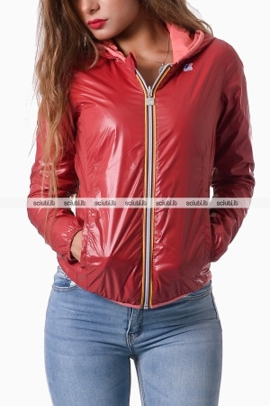 Giubbotto Kway donna rosso reversibile Lily plus
