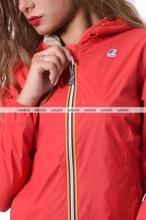 Giubbotto Kway donna rosso/beige reversibile Lily plus