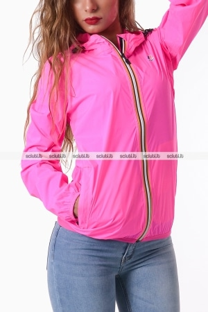 Giubbotto Kway donna fucsia Claudette stretch