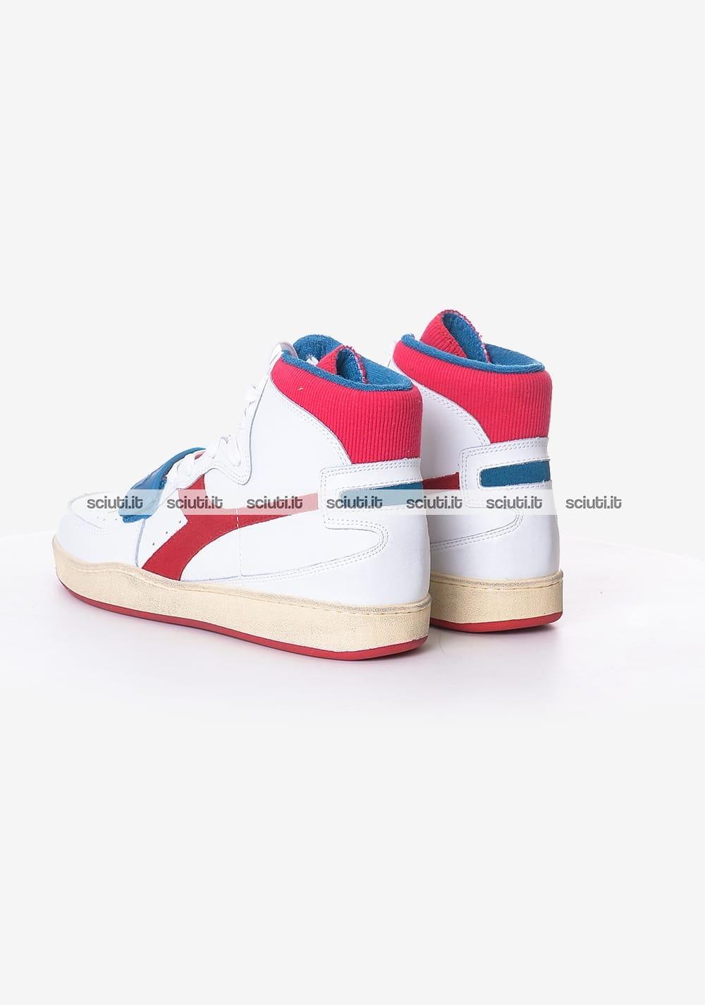 Sneakers DIADORA Mi Basket Used 501.174766 C0680 WhiteDark Red