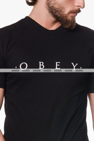 Tshirt Obey uomo nera Novel basic