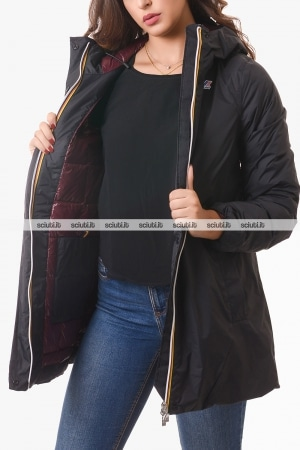 Cappotto Kway donna nero Sophie thermo plus