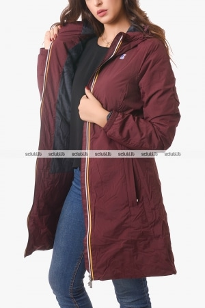 Cappotto Kway donna bordeaux Charlene micro ripstop marmot
