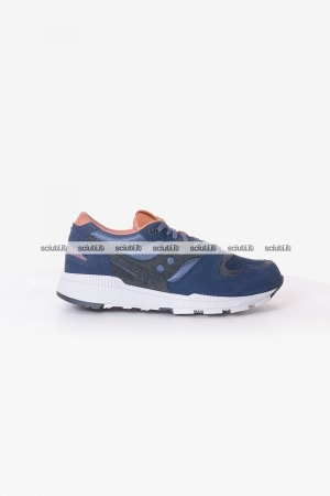Scarpe Saucony uomo Azura weathered luxury blu scuro marrone