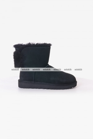 Stivaletto Ugg donna nero Mini Puff Crystal bow