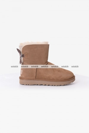 Stivaletto Ugg donna beige Mini Bailey bow