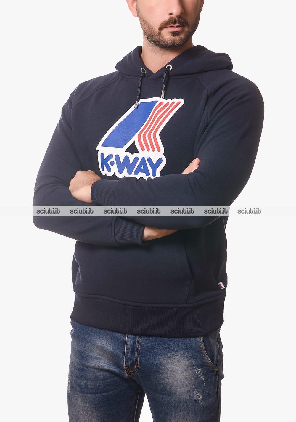 Felpa K-way Maglia  LOKI MACRO LOGO con cappuccio uomo K00A4S0