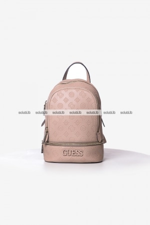 Zaino Guess donna rosa Skye piccolo logo all over
