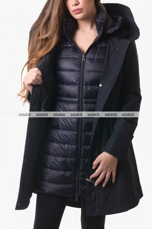 Parka 3 in 1 donna Woolrich donna blu scuro Military