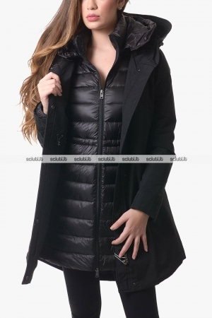 Parka 3 in 1 donna Woolrich donna nero Military