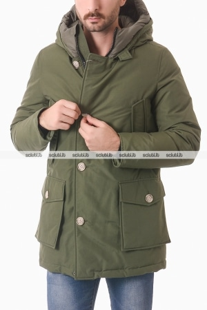 Parka Woolrich uomo verde militare Arctic Nf